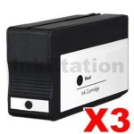 3 x HP 932XL Compatible Black High Yield Inkjet Cartridge CN053AA