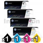 4 Pack HP 204A (CF510A-CF513A) Genuine Toner Cartridges [1BK,1C,1M,1Y]