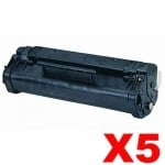 5 x HP C3906A (06A) Compatible Black Toner Cartridge - 2,500 Pages