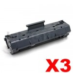 3 x HP C4092A (92A) Compatible Black Toner Cartridge - 2,500 Pages