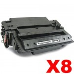8 x HP Q6511X (11X) Compatible Black Toner Cartridge - 12,000 Pages