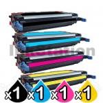 4 Pack HP Q7560A-Q7563A (314A) Compatible Toner Cartridges [1BK,1C,1M,1Y]