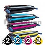 2 sets of 4 Pack HP Q7560A-Q7563A (314A) Compatible Toner Cartridges [2BK,2C,2M,2Y]