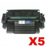 5 x HP 92298A (98A) Compatible Black Toner Cartridge - 6,800 Pages