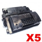 5 x HP CC364X (64X) Compatible Black High Yield Toner Cartridge - 24,000 Pages