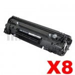 8 x HP CE285A (85A) Compatible Black Toner Cartridge - 1,600 Pages