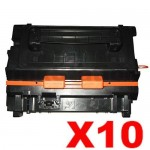 10 x HP CE390A (90A) Compatible Black Toner Cartridge - 10,000 Pages