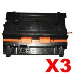 3 x HP CE390A (90A) Compatible Black Toner Cartridge - 10,000 Pages