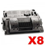 8 x HP CE390X (90X)  Compatible Black High Yield Toner Cartridge - 24,000 Pages