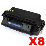 8 x HP Q2610A (10A) Compatible Black Toner Cartridge - 6,000 Pages
