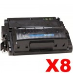 8 x HP Q5942X (42X) Compatible Black Toner Cartridge - 20,000 Pages
