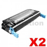2 x HP Q5950A (643A) Compatible Black Toner Cartridge  - 11,000 Pages