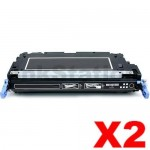 2 x HP Q6470A (501A) Compatible Black Toner Cartridge - 6,000 Pages