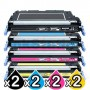 2 sets of 4 Pack HP Q6470A-Q7583A (501A/503A) Compatible Toner Cartridges [2BK,2C,2M,2Y]