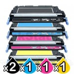 5 Pack HP Q6470A-Q6473A (501A/502A) Compatible Toner Cartridges [2BK,1C,1M,1Y]