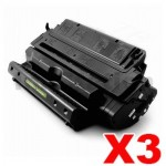 3 x HP C4182X (82X) Compatible Black Toner Cartridge - 20,000 Pages