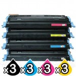 3 sets of 4 Pack HP C9720A-C9723A (641A) Compatible Toner Cartridges [3BK,3C,3M,3Y]