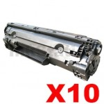 10 x HP CB436A (36A) Compatible Black Toner Cartridge - 2,000 Pages