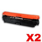 2 x HP CE270A (650A) Compatible Black Toner Cartridge  - 13,500 Pages