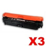 3 x HP CE270A (650A) Compatible Black Toner Cartridge  - 13,500 Pages