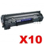 10 x HP 78A CE278A Compatible Black Toner Cartridge - 2,100 Pages