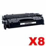 8 x HP CF280X (80X) Compatible Black Toner Cartridge - 6,900 Pages