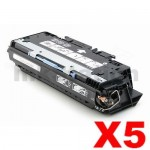5 x HP Q2670A (308A) Compatible Black Toner Cartridge - 6,000 Pages
