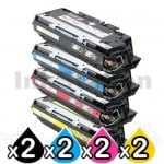 2 sets of 4 Pack HP Q2670A-2683A (308A/311A) Compatible Toner Cartridges [2BK,2C,2M,2Y]