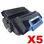 5 x HP Q5945A (45A) Compatible Black Toner Cartridge - 18,000 Pages