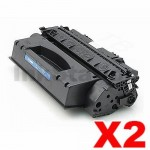 2 x HP Q5949X (49X) Compatible Black Toner Cartridge - 6,000 Pages