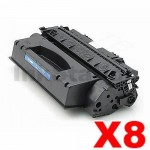 8 x HP Q5949X (49X) Compatible Black Toner Cartridge - 6,000 Pages