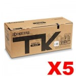 5 x Genuine Kyocera TK-5284K Black Toner Cartridge Ecosys P6235CDN, M6635CIDN - 13,000 pages