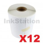 12 Rolls StarTrack Express Perforated Thermal Labels Rolls 100mm X 150mm - 350 Labels per Roll  (Roll diameter 10.5cm)