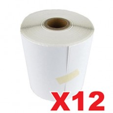 12 Rolls Transdirect Labels Perforated Thermal Label 100mm X 150mm - 350 Labels per Roll (Roll diameter 10.5cm)