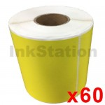 60 Rolls Star Track Express Yellow Thermal Labels Rolls 100mm X 150mm - 350 Labels per Roll