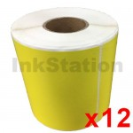 12 Rolls Star Track Express Yellow Thermal Labels Rolls 100mm X 150mm - 350 Labels per Roll