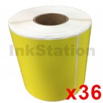 36 Rolls Star Track Express Yellow Thermal Labels Rolls 100mm X 150mm - 350 Labels per Roll