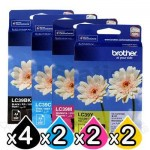 10 Pack Genuine Brother LC-39 Ink Combo [4BK+2C+2M+2Y]