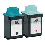 Lexmark No.50 + No.60 (17G0050 + 17G0060) Compatible Ink Cartridges Combo [1BK,1CL]
