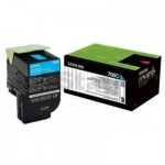 1 x Lexmark (70C80C0) Genuine CS310 / CS410 / CS510 Cyan Standard Yield Toner Cartridge - 1,000 pages