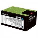 1 x Lexmark (80C8XC0) Genuine CX510 Cyan Extra High Yield Toner Cartridge - 4,000 pages