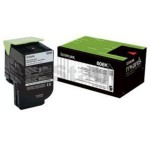 1 x Lexmark (80C80K0) Genuine CX310 / CX410 / CX510 Black Toner Cartridge - 1,000 pages