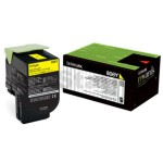 1 x Lexmark (80C80Y0) Genuine CX310 / CX410 / CX510 Yellow Toner Cartridge - 1,000 pages