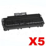 5 x Compatible Samsung ML-1210D3 Black Toner Cartridge - 3,000pages