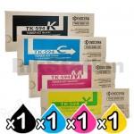 4 Pack Genuine Kyocera TK-594 Toner Cartridges FS-C2026MFP, FS-C2126MFP, FS-C2526MFP, FS-C2626MFP, FS-C5250DN, M-6026CDN, M-6526CDN, P-6026CDN [1BK,1C,1M,1Y]