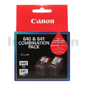 Canon PG-640, CL-641 Twin Pack Genuine Ink Cartridges [PG640CL641CP] [1BK,1CL]