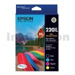 Epson 220XL Genuine High Yield Ink Value Pack [C13T294692] [1BK,1C,1M,1Y]