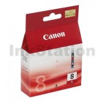 Genuine Canon CLI-8R Red Inkjet Cartridge