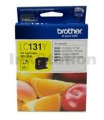 Genuine Brother LC-131Y Yellow Ink Cartridge - 300 Pages