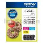 Genuine Brother LC-233CL3PK Colour Pack [C+M+Y] - 550 Pages each